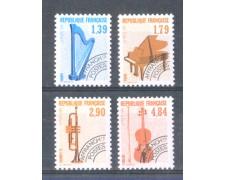1989 - LOTTO/205CPN - FRANCIA - PREANNULLATI STRUMENTI MUSICALI 4v. - NUOVI