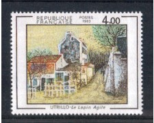 1983 - LOTTO/FRA2297N - FRANCIA - 4 Fr. MAURICE UTRILLO - NUOVO