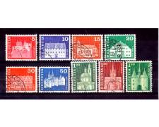 1968 - LOTTO/880CPU -  SVIZZERA - EDIFICI STORICI 9v. - USATI
