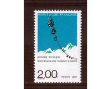 1987 - LOTTO/FRA2475N- FRANCIA - 2 Fr. TASPORTI A FUNE - NUOVO