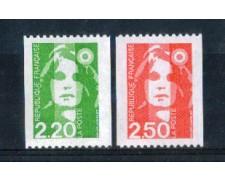 1991 - LOTTO/FRA2709CPN - FRANCIA - MARIANNA 2,20/2,50 DA ROTOLI - NUOVI