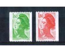 1982 - LOTTO/FRA2223CPN - FRANCIA - LIBERTA' DA ROTOLI 2v. - NUOVI