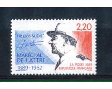 1989 - LOTTO/FRA2604N - FRANCIA - MARESCIALLO  DE LATTRE DE TASSIGNY - NUOVO