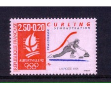 1991 - LOTTO/FRA2683N - FRANCIA - ALBERTVILLE  CURLING - NUOVO