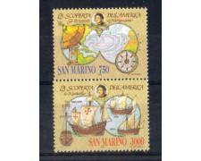 1991 - LOTTO/8113 - SAN MARINO - CELEBRAZIONI COLOMBIANE 2v. - NUOVI