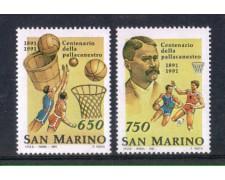 1991 - LOTTO/8115 - SAN MARINO - CENTENARIO PALLACANESTRO 2v. - NUOVI