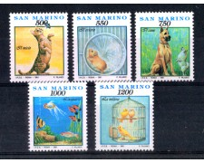 1991 - LOTTO/8116 - SAN MARINO -  VITA QUOTIDIANA 5v. - NUOVI