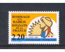 1989 - LOTTO/FRA2605N - FRANCIA - OMAGGIO AGLI  HARKIS - NUOVO
