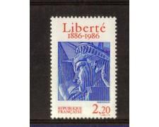 1986 - LOTTO/FRA2420N - FRANCIA - CENTENARIO STATUA DELLA LIBERTA' - NUOVO