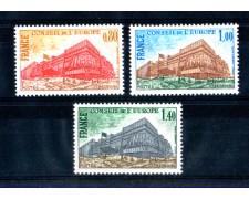 1977 - LOTTO/FRAS55CPN - FRANCIA - SERVIZIO CONSIGLIO D'EUROPA 3v. - NUOVI