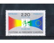 1989 - LOTTO/FRA2564N - FRANCIA - 2,20 Fr. PARLAMENTO EUROPEO - NUOVO