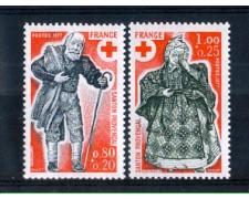 1977 - LOTTO/FRA1960CPN - FRANCIA - PRO CROCE ROSSA 2v. - NUOVI