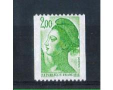 1987 - LOTTO/FRA2481AN - FRANCIA - 2 Fr. VERDE LIBERTA'  DA ROTOLI  - NUOVO