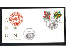 1982 - LOTTO/ONUS104FDC - ONU SVIZZERA - SERIE DEFINITIVA - BUSTA FDC