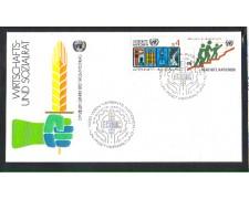 1980 - LOTTO/ONUA15FDC - ONU AUSTRIA - CONSIGLIO ECONOMICO - BUSTA FDC