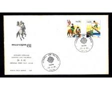 1981 - LOTTO/MLT617FDC - MALTA - EUROPA 2v.- BUSTA FDC