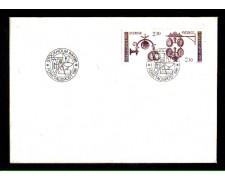 1981 - LOTTO/SVE1141FDC - SVEZIA - ANTICHE INSEGNE - BUSTA FDC