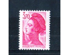 1987 - LOTTO/FRA2493N - FRANCIA - 3,70 Fr. ROSA LIBERTA' - NUOVO