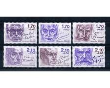 1985 - LOTTO/FRA2362CPN - FRANCIA - PERSONAGGI CELEBRI 6v. - NUOVI