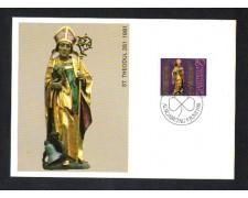 1981 - LOTTO/LIE716MAX - LIECHTENSTEIN - S.TEODULO - CART.MAXIMUM