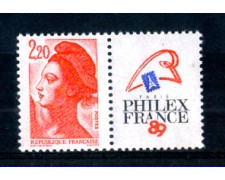 1987 - LOTTO/FRA2464N - FRANCIA - 2,20 Fr. PHILEXFRANCE - NUOVO
