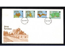 1980 - LOTTO/JER209FDC - JERSEY - FORTEZZE - BUSTA FDC