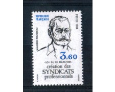 1984 - LOTTO/FRA2306N - FRANCIA - 3,60 Fr. SINDACATI PROFESSIONALI - NUOVO