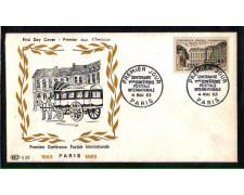 1963 - LOTTO/FRA1387FDC - FRANCIA - CENTENARIO PRIMA CONF.POSTALE - BUSTA FDC