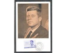 1965 - LOTTO/CPR239MAX - CIPRO - 10m. J.F.KENNEDY - CARTOLINA MAXIMUM