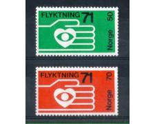 1971 - LOTTO/NORV580CPN - NORVEGIA - AIUTO AI RIFUGIATI - NUOVI