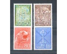 1972 - LOTTO/NORV601CPN - NORVEGIA - UNIFICAZIONE 4v. - NUOVI