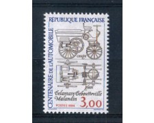 1984 - LOTTO/FRA2338N - FRANCIA - 3 Fr.  1° AUTOMOBILE FRANCESE - NUOVO