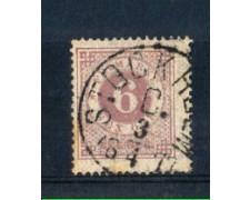 1872 - LBF/2802 - SVEZIA - 6  ORE VIOLETTO - USATO