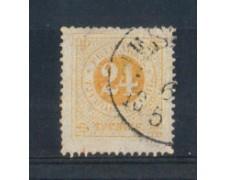 1872 - LOTTO/SVE22U - SVEZIA - 24 ORE GIALLO - USATO