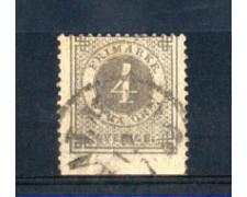 1872 - LOTTO/SVE17IUV  - SVEZIA - 4 o. GRIGIO NON DENT. IN BASSO - USATO