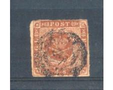 1854 - LOTTO/DAN4U1 - DANIMARCA - 4s. GIALLO BRUNO - USATO