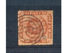 1858 - LOTTO/DAN10U1 - DANIMARCA - 4s. BRUNO - USATO