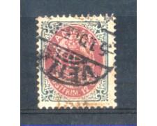 1875 - LOTTO/DAN25U - DANIMARCA - 12 ore  GRIGIO E ROSSO - USATO