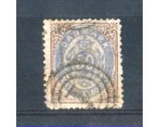 1875 - LOTTO/DAN28U - DANIMARCA - 50 ore BISTRO VIOLA - USATO