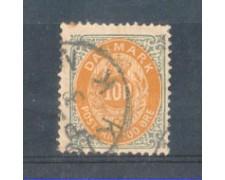 1875 - LOTTO/DAN29U1 - DANIMARCA - 100 ore GRIGIO E OCRA - USATO