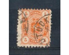 1875/81 - LOTTO/FIN14U - FINLANDIA - 5p. ARANCIO - USATO