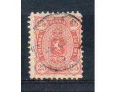 1875/81 - LOTTO/FIN17U - FINLANDIA - 25p. ROSA - USATO
