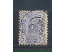 1875/81 - LOTTO/FIN16U - FINLANDIA - 20p. OLTREMARE - USATO