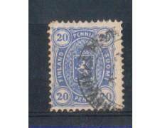 1881/83 - LOTTO/FIN16AU - FINLANDIA - 20p. OLTREMARE - USATO