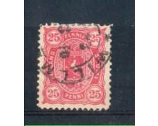 1881/83 - LOTTO/FIN17AU - FINLANDIA - 25p. ROSA - USATO
