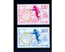 1989 - LOTTO/FRAS101CPN - FRANCIA - SERVIZIO -  CONSIGLIO D'EUROPA 2v. - NUOVI
