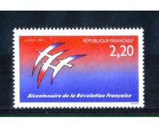 1989 - LOTTO/FRA2554N - FRANCIA - 2,20 Fr. BICENTENARIO RIVOLUZIONE - NUOVO