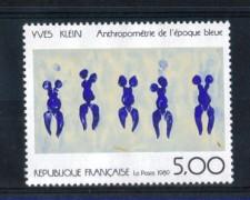 1989 - LOTTO/FRA2555N - FRANCIA - 5 Fr. DIPINTO DI YVES KLEIN - NUOVO