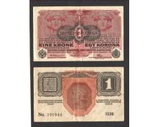 AUSTRIA - 1919 - LOTTO/10459  - 1 CORONA