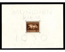 1936 - LOTTO/GERBF6L - GERMANIA REICH - COPPA IPPICA NASTRO BRUNO - FOGLIETTO  T/L